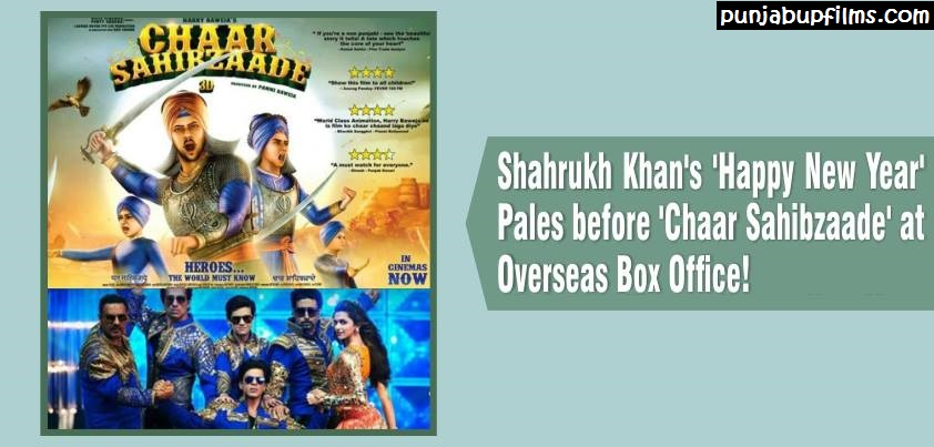 Bollywood movie Happy New year Stoops before Chaar Sahibzaade