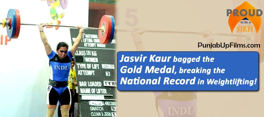 Sikh Girl Jasvir Kaur,breaks the National Record in Weightlifting