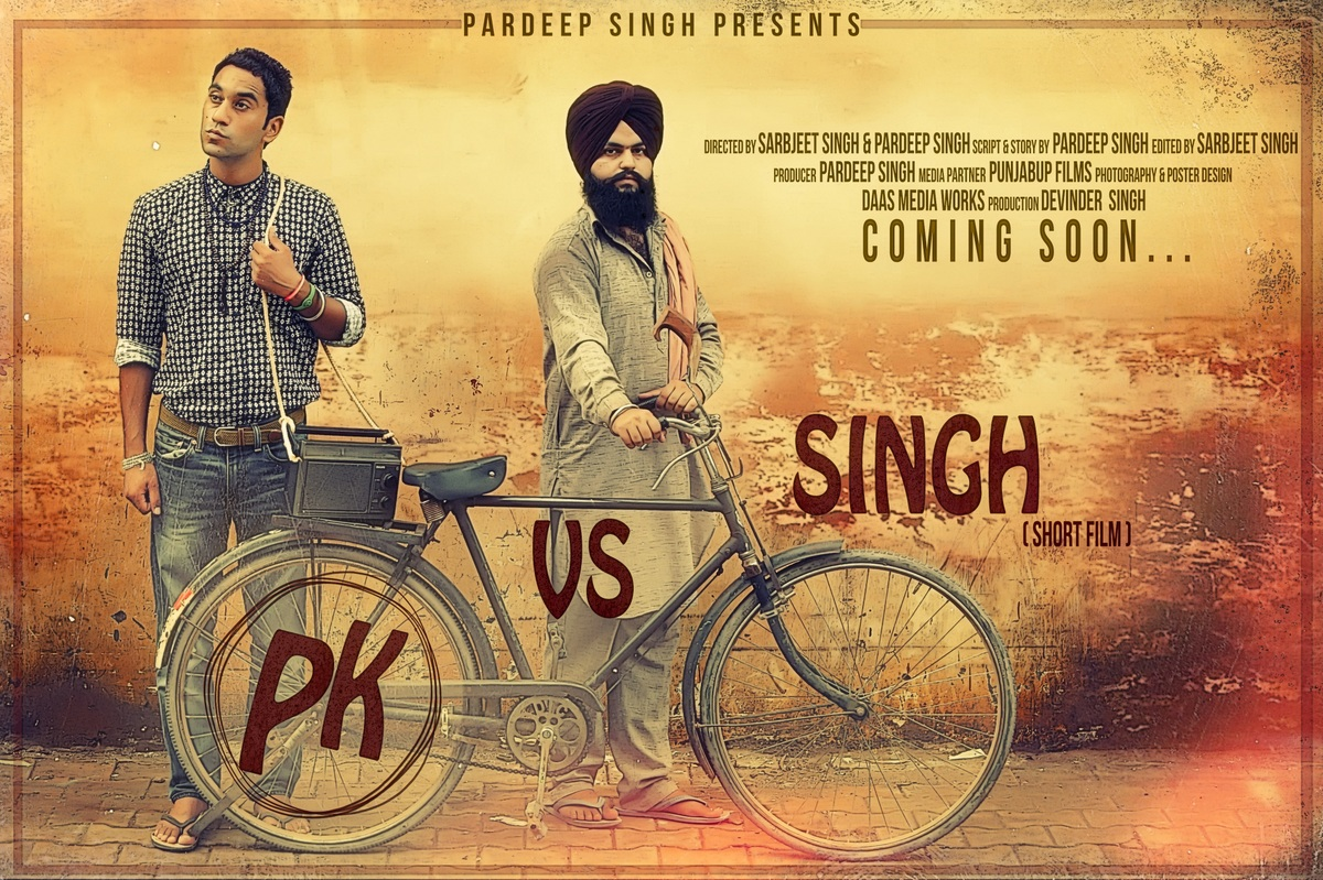 First Poster Released Upcoming Short Movie 'PK Vs Singh'