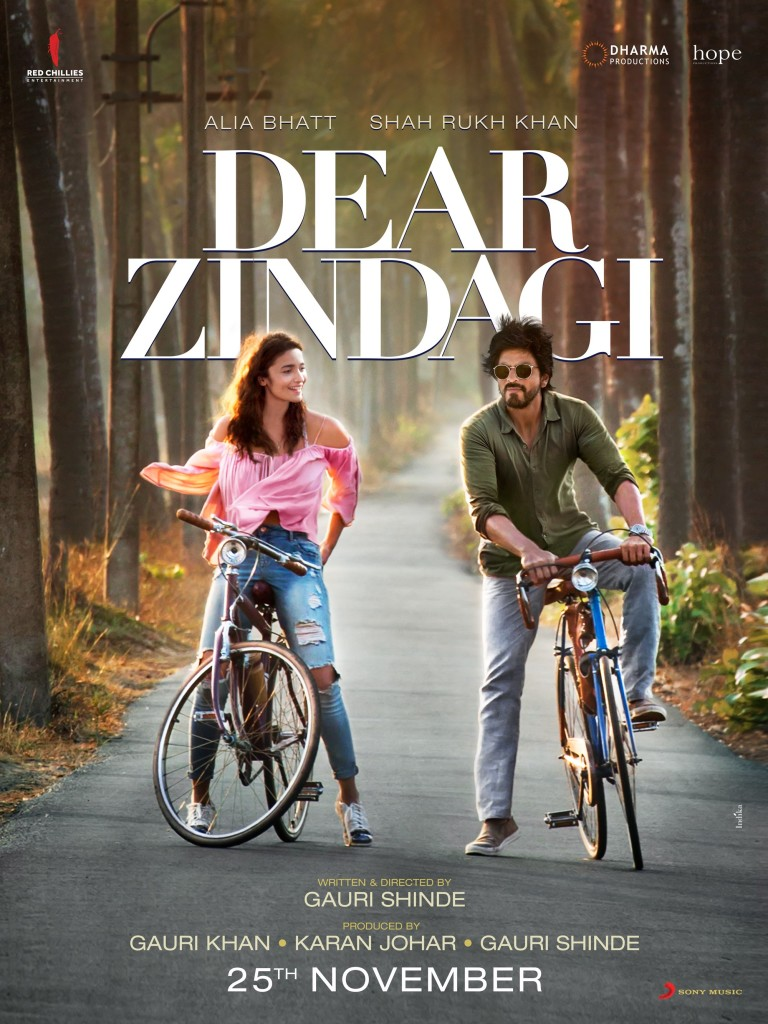 Alia Bhatt & Shah Rukh Khan ride off with Dear Zindagi: Poster Out Now
